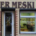 Witryna salon fryzjerski