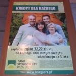 Plakat kredyt bankowy